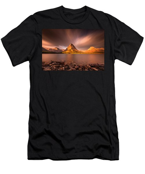 Sunrise In Glacier National Park Men's T-Shirt (Athletic Fit)