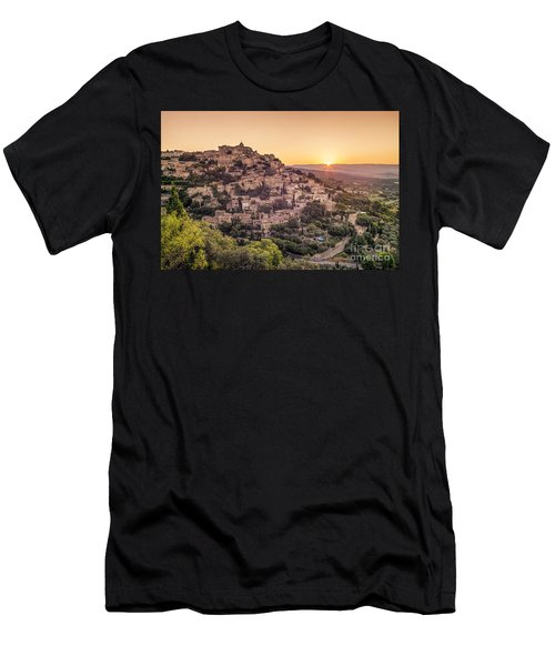 Men's T-Shirt (Athletic Fit) featuring the photograph Sunrise In Gordes Provence  by Juergen Held