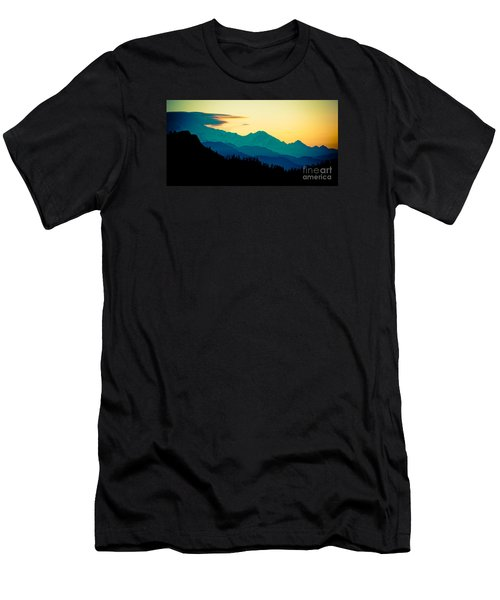 Sunrise In Himalayas Annapurna Yatra Himalayas Mountain Nepal Poon Hill Men's T-Shirt (Athletic Fit)