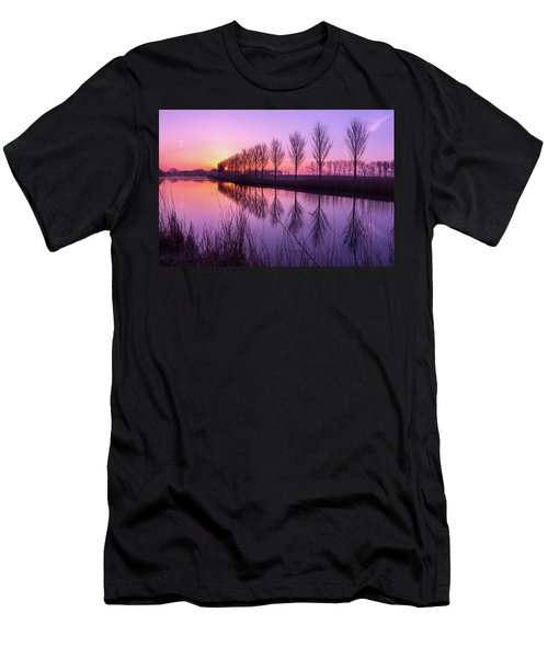 Sunrise In Holland Men's T-Shirt (Athletic Fit)