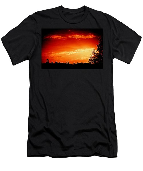 Sunrise In Southport Maine Men's T-Shirt (Athletic Fit)