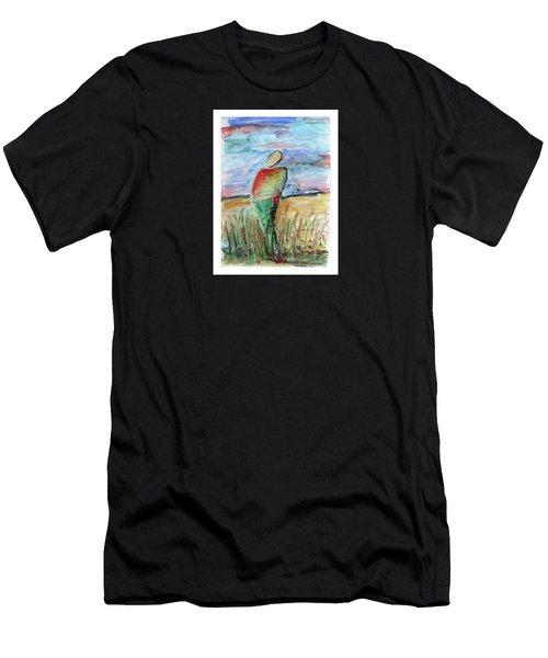 Sunrise In The Grasses Men's T-Shirt (Athletic Fit)