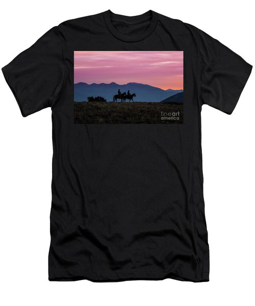Sunrise In The Lost River Range Wild West Photography Art By Kay Men's T-Shirt (Athletic Fit)
