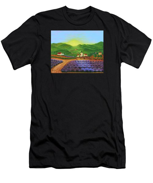 Sunrise In Tuscany Men's T-Shirt (Athletic Fit)
