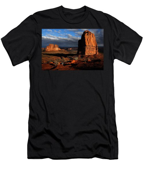 Sunrise La Sal Mountains Men's T-Shirt (Slim Fit) by Harry Spitz