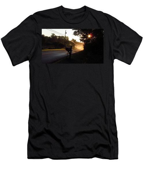 Sunrise On A Country Road Men's T-Shirt (Athletic Fit)