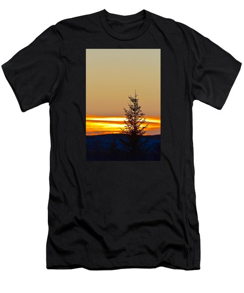 Men's T-Shirt (Slim Fit) featuring the photograph Sunrise On A Sunday Morning by Dacia Doroff