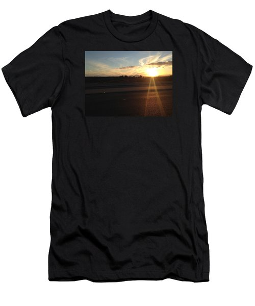 Sunrise On Asphalt Men's T-Shirt (Athletic Fit)