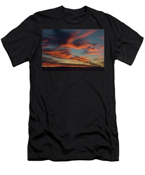 Sunrise On Fire Men's T-Shirt (Athletic Fit)
