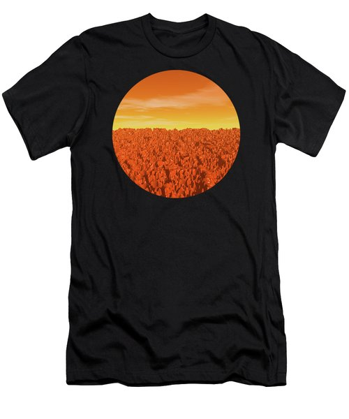 Sunrise On Planet Mars Men's T-Shirt (Athletic Fit)