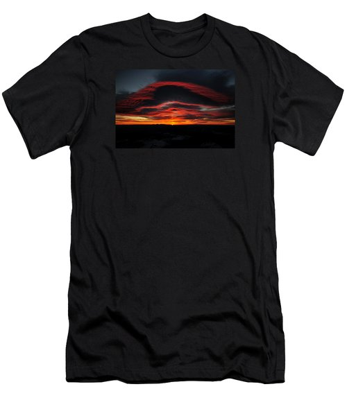 Sunrise On Rainier Men's T-Shirt (Athletic Fit)