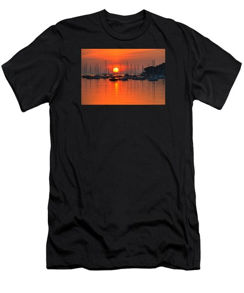 Sunrise On Salem Harbor Salem Ma Men's T-Shirt (Athletic Fit)