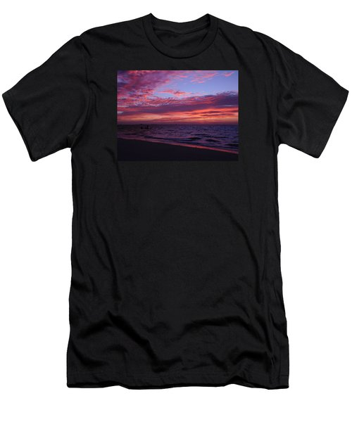 Sunrise On Sanibel Island Men's T-Shirt (Slim Fit) by Melinda Saminski