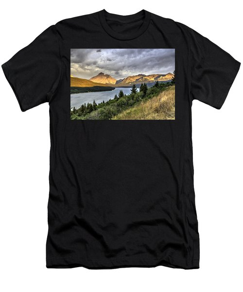 Men's T-Shirt (Slim Fit) featuring the photograph Sunrise On The Bitterroot River by Alan Toepfer