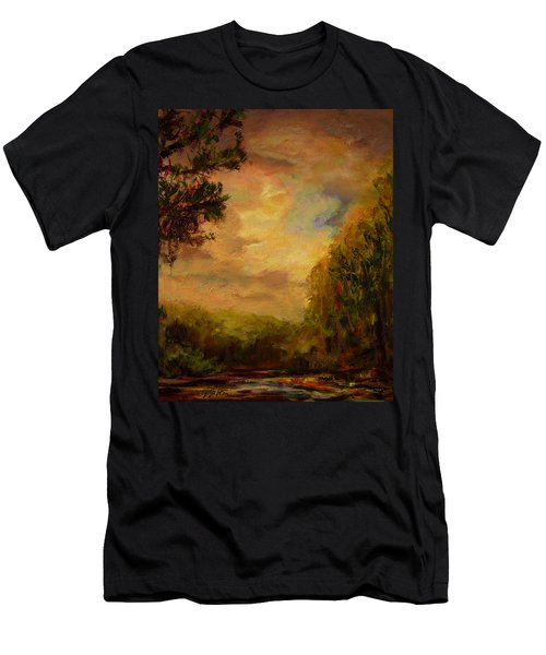 Sunrise On The River Men's T-Shirt (Athletic Fit)