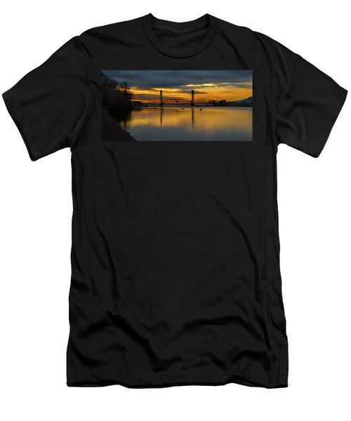 Sunrise On The Willamette Men's T-Shirt (Athletic Fit)