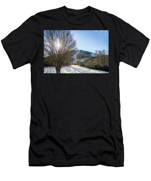 Sunrise Over Cataloochee Ski Men's T-Shirt (Athletic Fit)