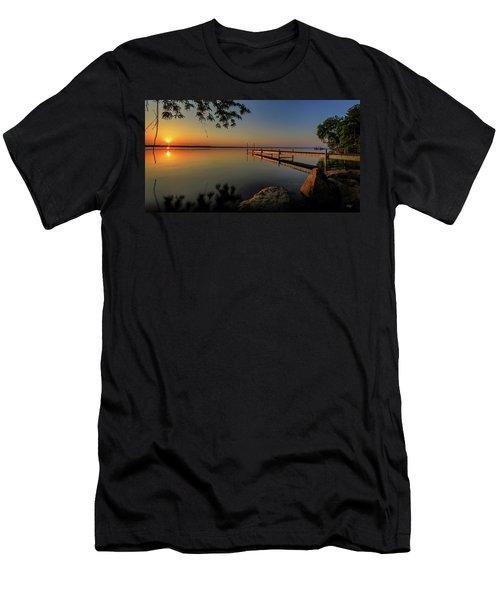 Sunrise Over Cayuga Lake Men's T-Shirt (Slim Fit) by Everet Regal