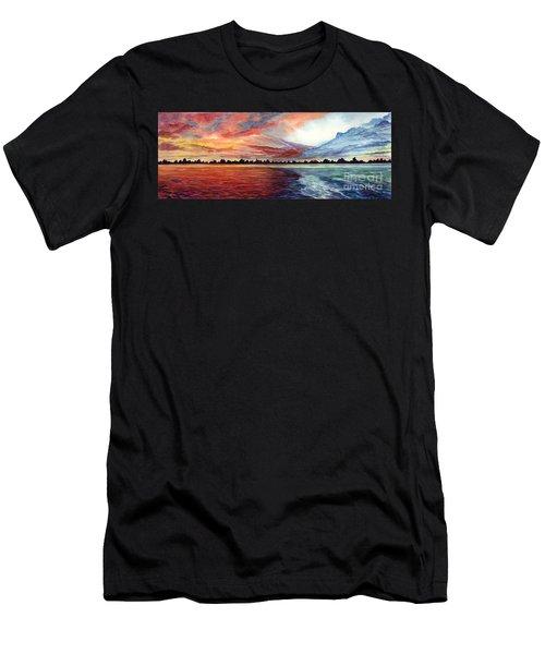 Sunrise Over Indian Lake Men's T-Shirt (Athletic Fit)