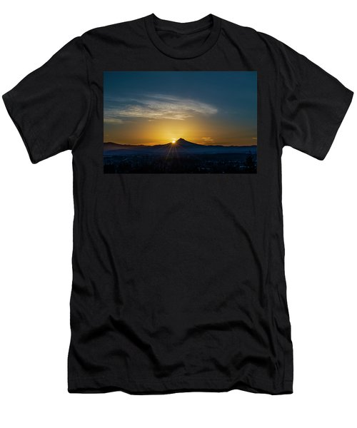 Sunrise Over Mt. Hood Men's T-Shirt (Athletic Fit)