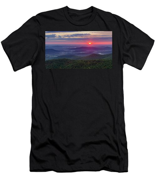 Men's T-Shirt (Athletic Fit) featuring the photograph Sunrise Over The Blue Ridge by Lori Coleman