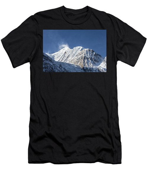 Sunrise Over The Gangapurna Peak At 7545m In The Himalayas In Ne Men's T-Shirt (Athletic Fit)