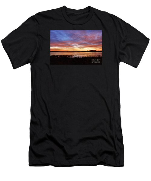 Men's T-Shirt (Slim Fit) featuring the photograph Sunrise Over The Marsh by Larry Ricker