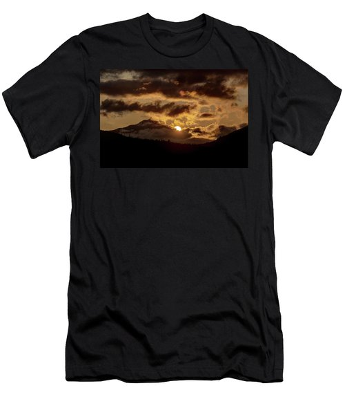 Sunrise Over The Peak Men's T-Shirt (Athletic Fit)