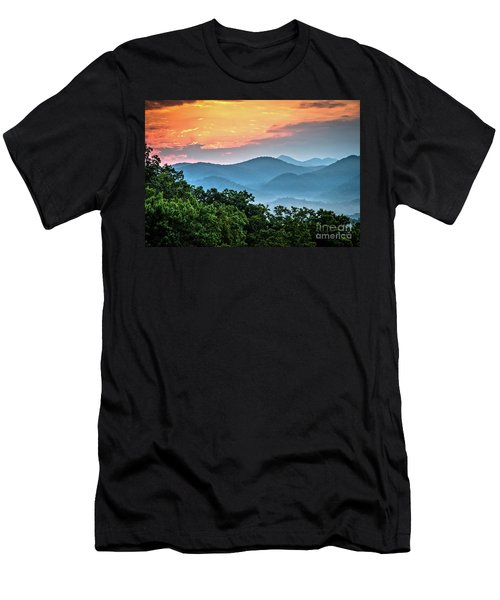 Men's T-Shirt (Slim Fit) featuring the photograph Sunrise Over The Smoky's by Douglas Stucky