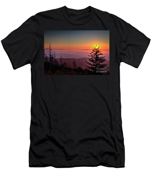 Men's T-Shirt (Slim Fit) featuring the photograph Sunrise Over The Smoky's IIi by Douglas Stucky