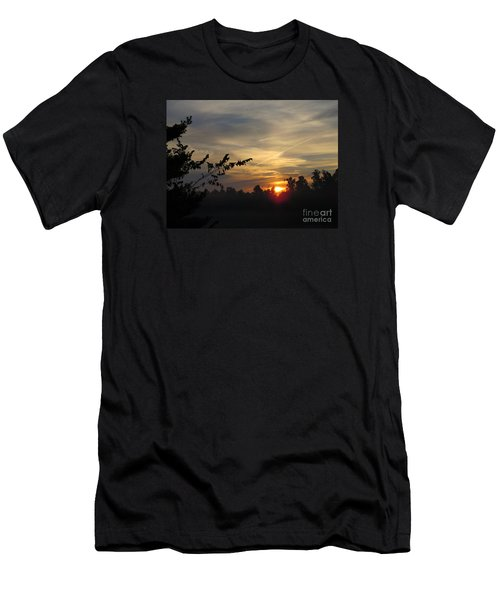 Sunrise Over The Trees Men's T-Shirt (Slim Fit) by Craig Walters