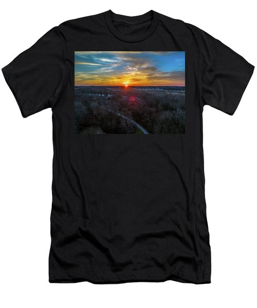 Sunrise Over The Woods Men's T-Shirt (Athletic Fit)
