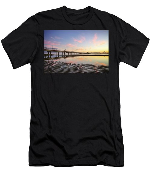 Sunrise Reflections At The Shorncliffe Pier Men's T-Shirt (Athletic Fit)