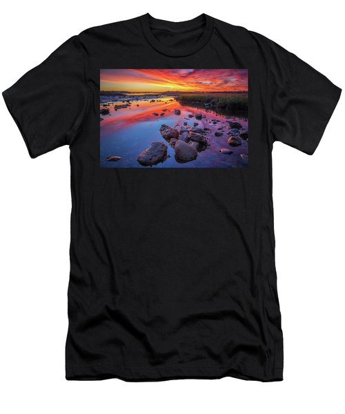 Sunrise Reflections In Harpswell Men's T-Shirt (Athletic Fit)