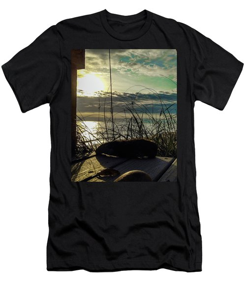 Sunrise Sea Shells Men's T-Shirt (Slim Fit) by Josy Cue