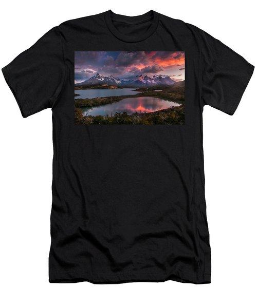 Sunrise Spectacular At Torres Del Paine. Men's T-Shirt (Athletic Fit)