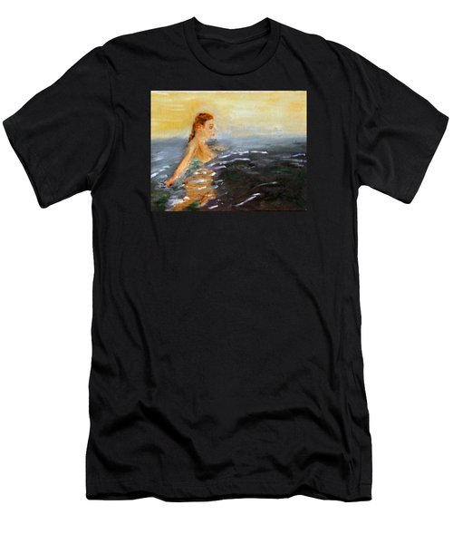 Sunrise Swim Men's T-Shirt (Athletic Fit)