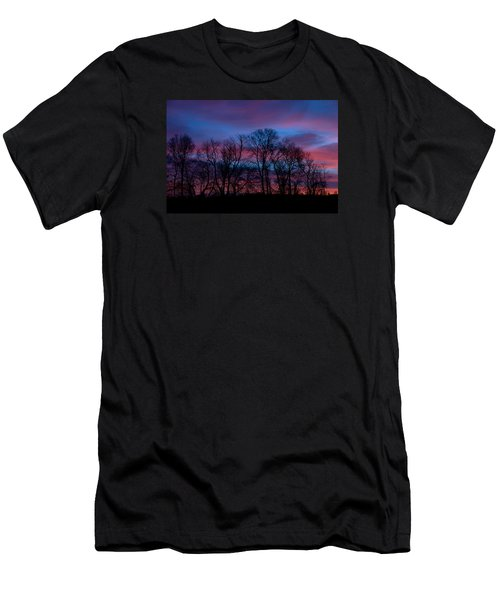 Sunrise Through Barren Trees Men's T-Shirt (Athletic Fit)