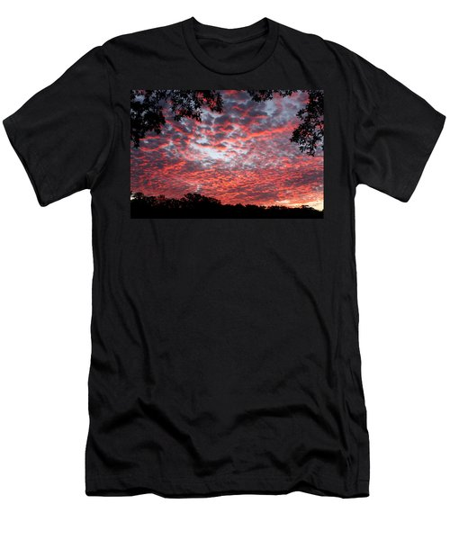 Sunrise Through The Trees Men's T-Shirt (Slim Fit) by Sheila Brown