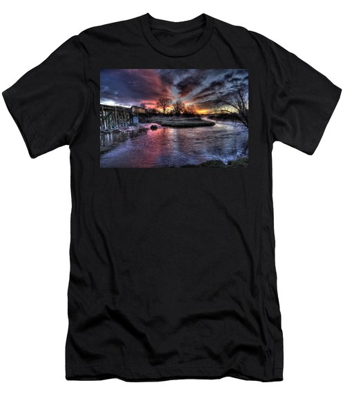 Sunrise Trestle #1 Men's T-Shirt (Athletic Fit)