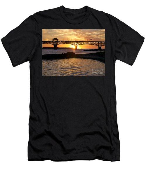 Sunrise Under Coleman Bridge Men's T-Shirt (Athletic Fit)