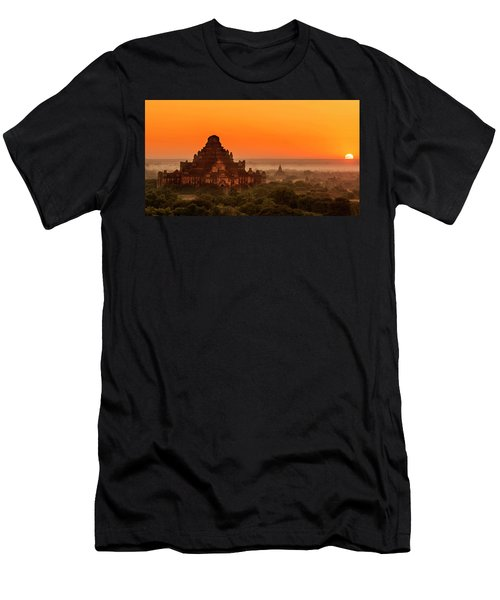 Men's T-Shirt (Athletic Fit) featuring the photograph Sunrise View Of Dhammayangyi Temple by Pradeep Raja Prints