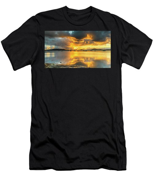 Sunrise Waterscape With Reflections Men's T-Shirt (Athletic Fit)