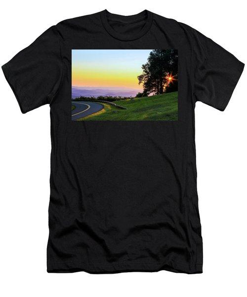 Sunrise Waves Men's T-Shirt (Athletic Fit)