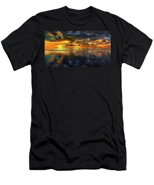 Sunset #95 Or Sunset Over The Atlantic. Men's T-Shirt (Athletic Fit)