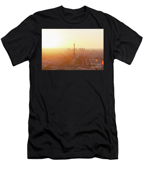 Sunset Above Paris Men's T-Shirt (Athletic Fit)
