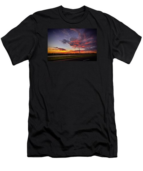 Sunset Along Jd Men's T-Shirt (Athletic Fit)
