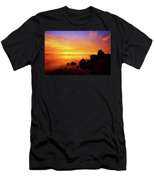 Sunset And Fire Men's T-Shirt (Athletic Fit)