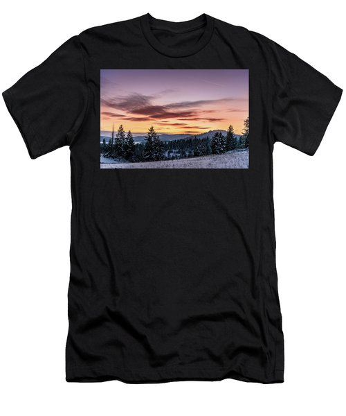 Sunset And Mountains Men's T-Shirt (Athletic Fit)