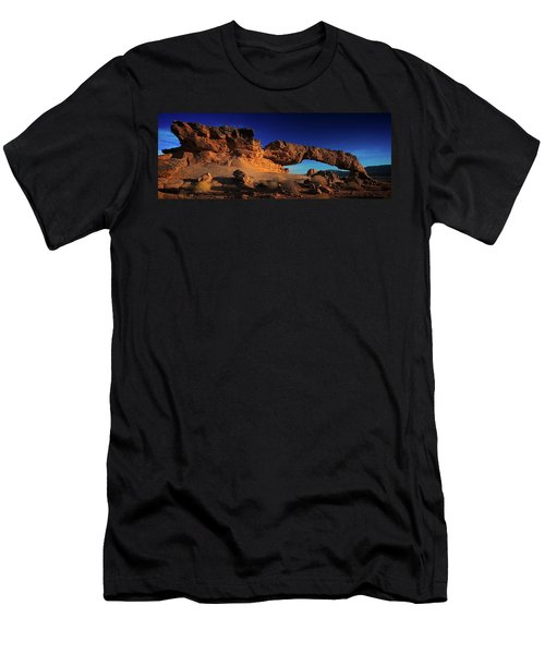 Men's T-Shirt (Athletic Fit) featuring the photograph Sunset Arch Pano by Edgars Erglis